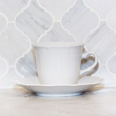 $22.95 Weave Cup & Saucer Set