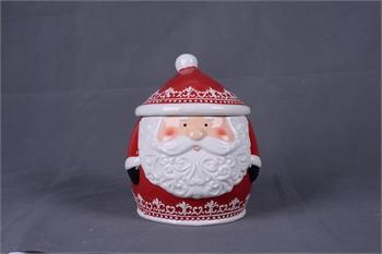 Hollyhocks Exclusives   Nordic Santa Cookie Jar $43.95
