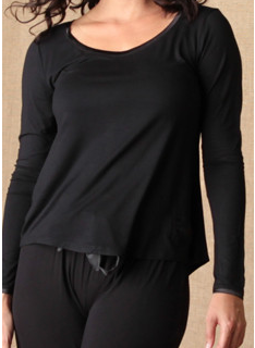 $49.95 Bamboo Long Sleeve T-Shirt - Black - Medium