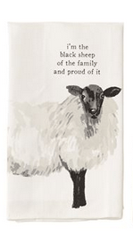 $8.95 Dish Towel ~ Black Sheep