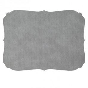 Hollyhocks Exclusives   Bodrum Curly Vinyl Placemat ~ Gray $21.45