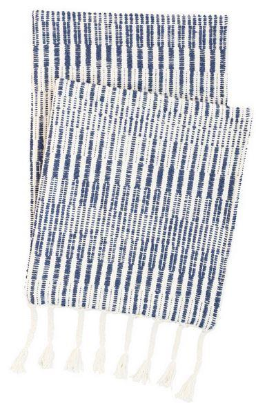 Pine Cone Hill   Cozumel Navy Throw $140.00