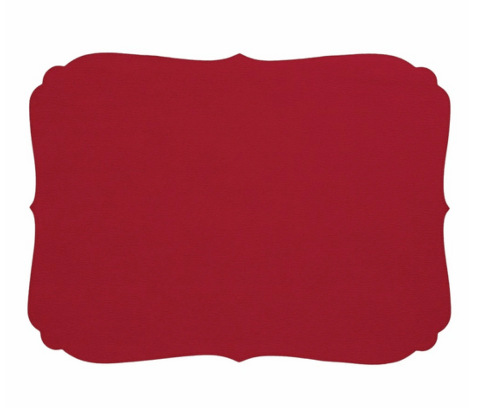 Hollyhocks Exclusives   Curly Vinyl Placemat ~ Red $22.95