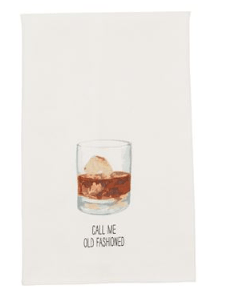 $8.95 Dish Towel ~ Old Fashioned Drink