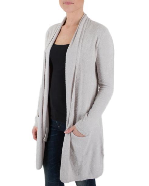 $132.95 Essential Long Cardigan - Silver