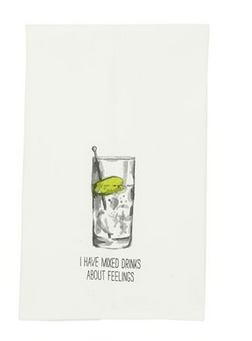 $8.95 Dish Towel ~ Highball Drink