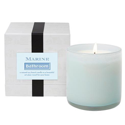 $61.95 Glass Candle ~ Marine ~ Bathroom