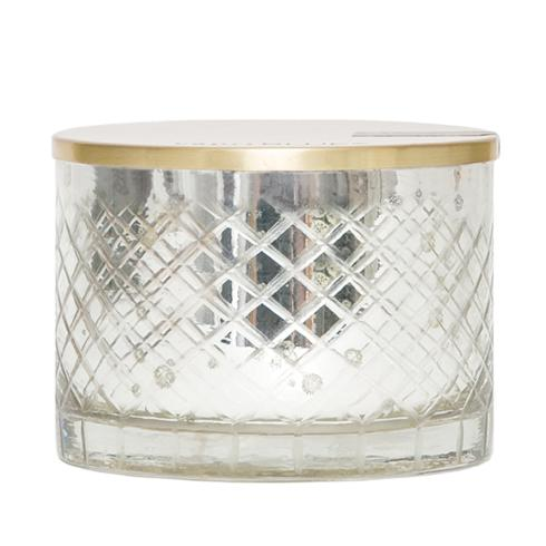$45.95 Mercury Glass Bowl Volcano Candle