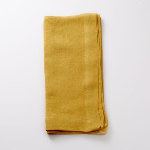 Hollyhocks Exclusives   Linen Napkins Butterscotch $132.00