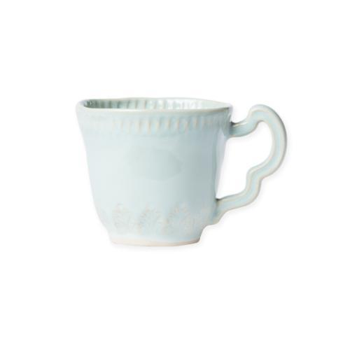Hollyhocks Exclusives   VIETRI ~ Incanto Stone Leaf Mug ~ Aqua $46.00