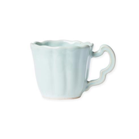 Hollyhocks Exclusives   VIETRI Incanto Stone Scallop Mug ~ Aqua $46.00