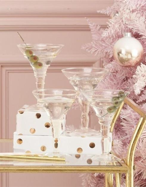 Two\'s Company   Verre Martini Glass ~ Assorted Styles $21.95