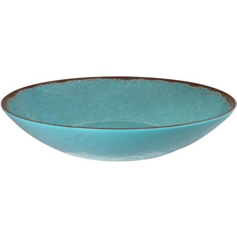 $28.95 Antiqua Turquoise Oval Serving Bowl