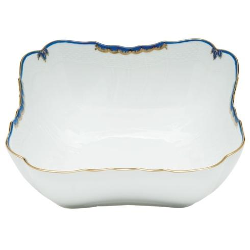"Herend  Princess Victoria Blue SQUARE SALAD BOWL 10""SQ $395.00"