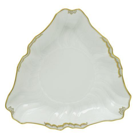 Herend Collections Princess Victoria Gray Triangle Dish  $225.00