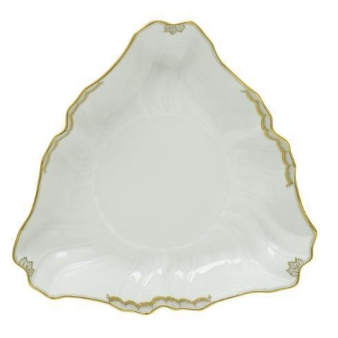 Herend  Princess Victoria Gray Triangle Dish - Mulicolor $225.00