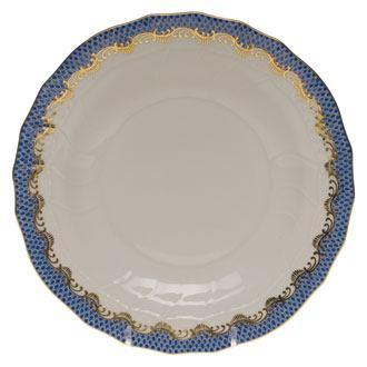 Herend Fish Scale Blue Dessert Plate - Blue $215.00