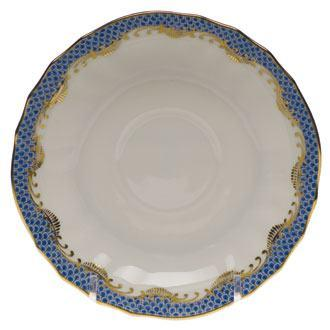 Herend Fish Scale Blue Canton Saucer - Blue $95.00