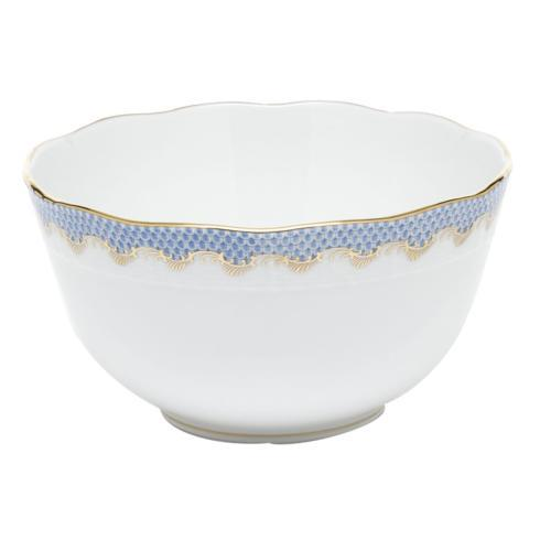 Herend Fish Scale Light Blue Round Bowl - Light Blue $340.00