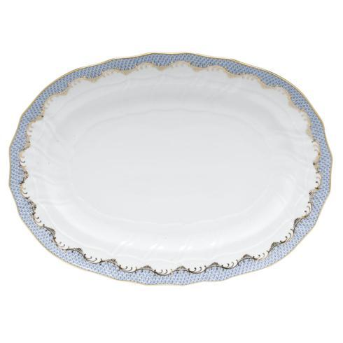 Herend Fish Scale Light Blue Platter - Light Blue $660.00
