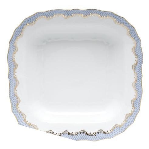 Herend Fish Scale Light Blue Square Fruit Dish - Light Blue $525.00