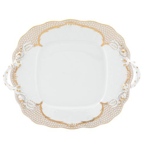 Herend Collections Golden Elegance Square Cake Plate $540.00