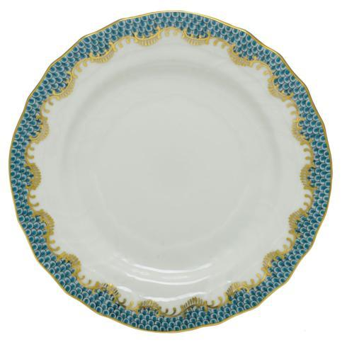 Herend  Fishscale Turquoise Bread & Butter Plate $190.00
