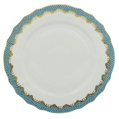 Herend  Fishscale Turquoise Dinner Plate $310.00