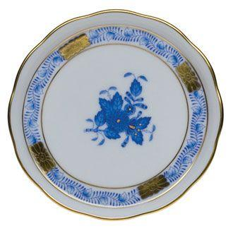 "Herend  Chinese Bouquet Blue Coaster 4"" D $45.00"