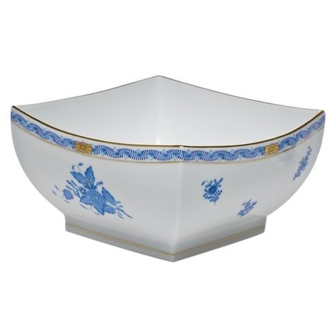 Herend Chinese Bouquet Blue Large Square Bowl $415.00