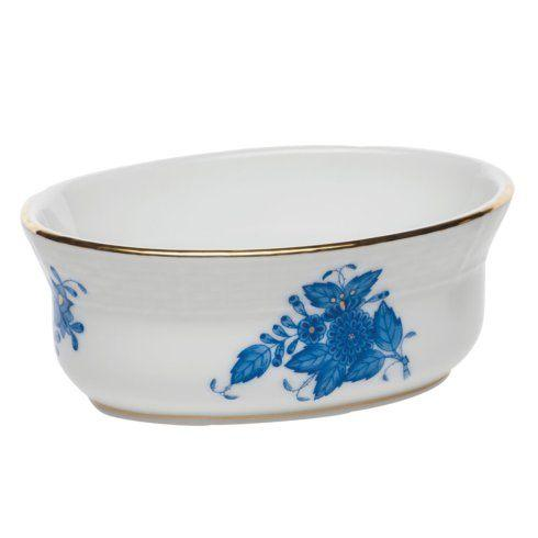 Herend Chinese Bouquet Blue Mini Oval Bowl $75.00
