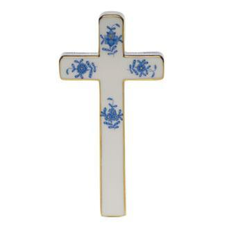 "Herend  Chinese Bouquet Blue Cross 4.75"" L X 2.25"" W $240.00"