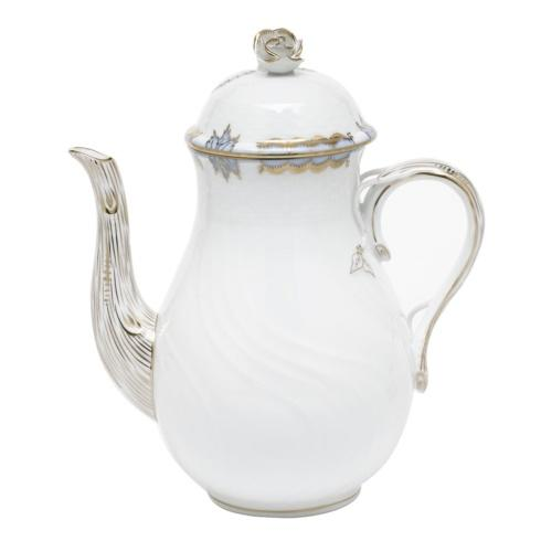 Herend Princess Victoria Light Blue COFFEE POT W/ROSE $310.00