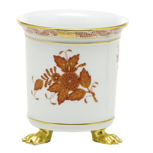 Herend  Chinese Bouquet Rust Mini Cachepot with Feet - Rust $190.00