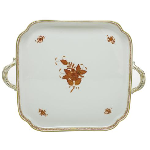 $555.00 Square Tray with Handles