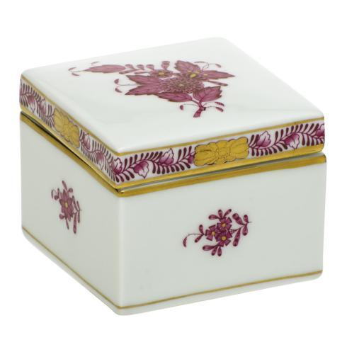 Herend Collections Chinese Bouquet Raspberry Square Box $150.00