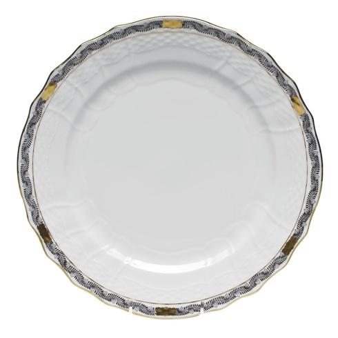 Herend  Chinese Bouquet Garland Black Service Plate $140.00