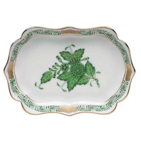 Herend Chinese Bouquet Green Mini Scalloped Tray $105.00