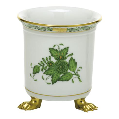 $190.00 Mini Cachepot with Feet - Green