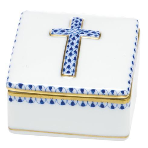 Herend Home Accessories Boxes Prayer Box - Sapphire $170.00