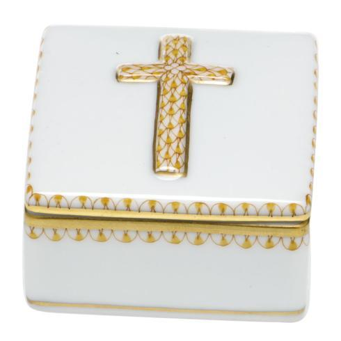 Herend Home Accessories Boxes Prayer Box - Butterscotch $170.00