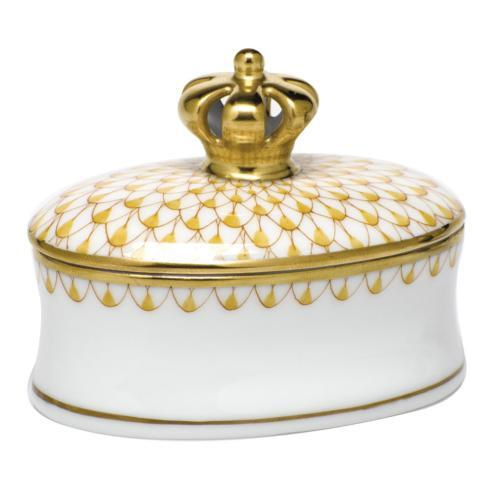 $225.00 Box with Crown - Butterscotch