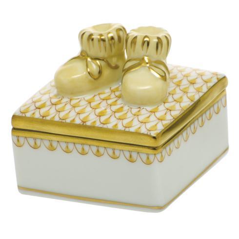$225.00 Baby Bootie Box - Butterscotch