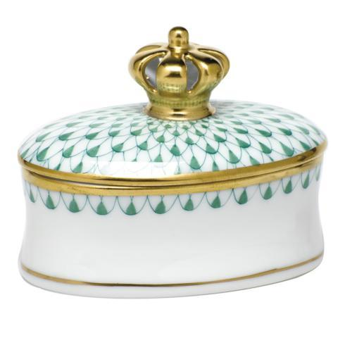 Box with Crown - Green