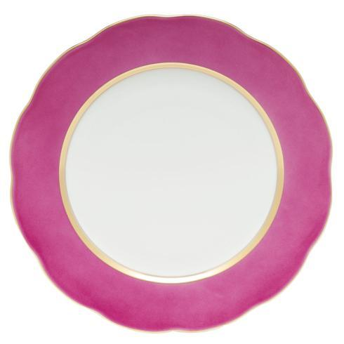 Herend  Silk Ribbon Service Plate Raspberry $175.00
