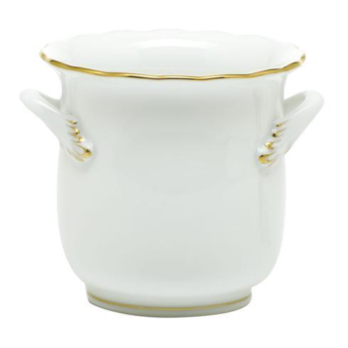 Herend  Golden Edge Mini Cachepot with Handles  $140.00