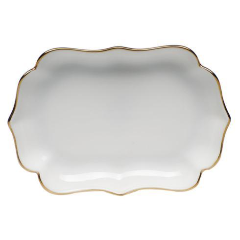 Herend  Golden Edge Mini Scalloped Tray $75.00