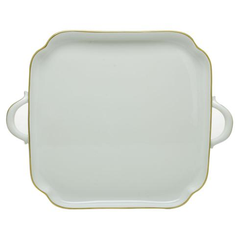 Herend  Golden Edge Square Tray with Handles $325.00