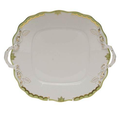 $310.00 Square Cake Plate W/Handles