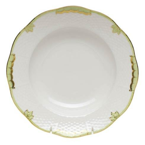 Herend Princess Victoria Green Rim Soup Plate $125.00